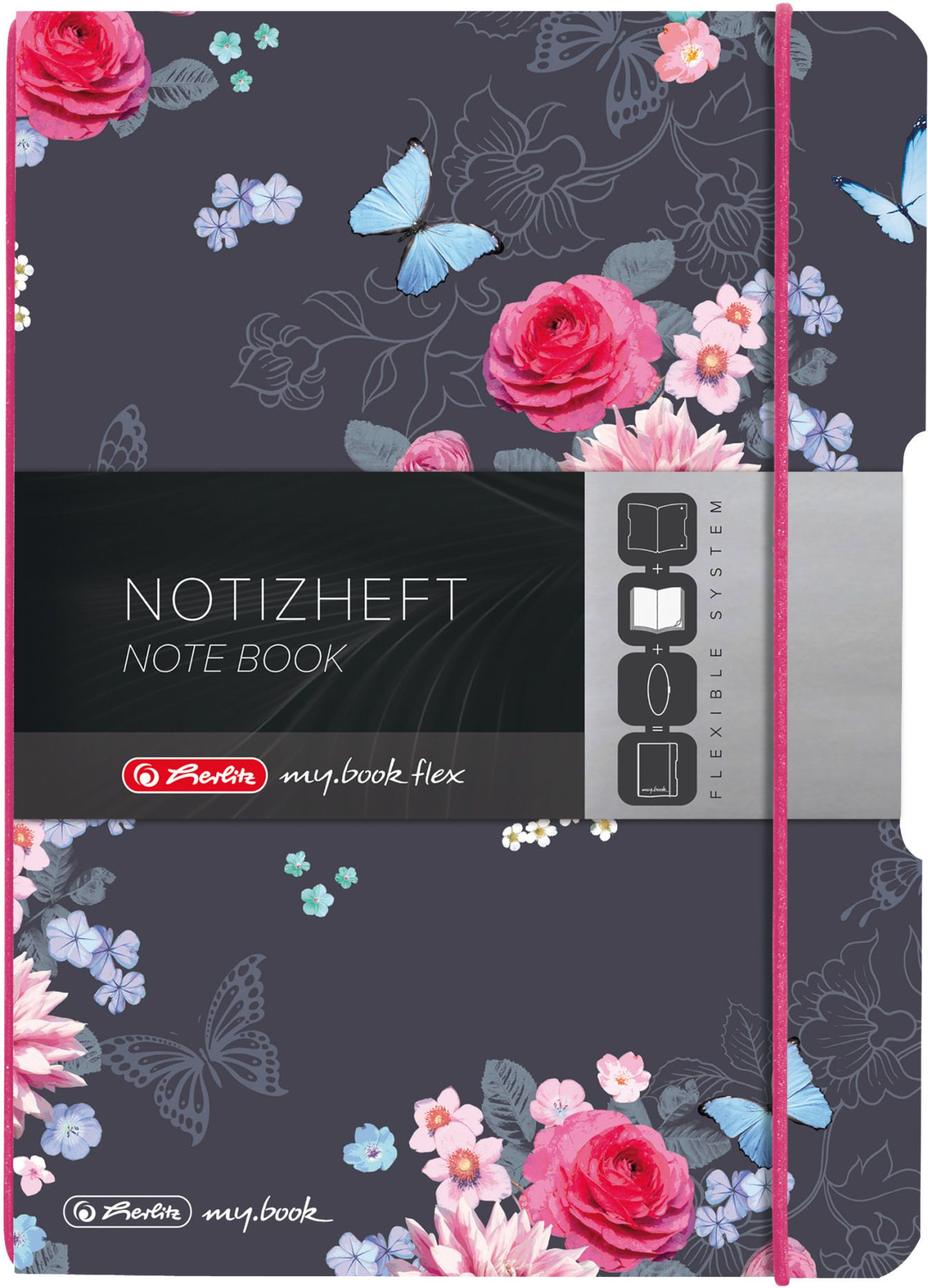 Notizbuch my.book flex Herlitz Ladylike 40 Seiten A6