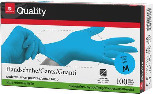 Quality Einweghandschuhe Nitril M 975742 Blau 100 Stück
